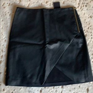 NWT Club Monaco Faux Leather Skirt